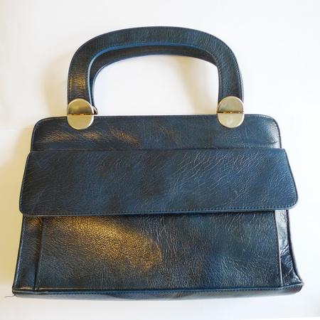 5ccfbe14 Vintage Mørk blå skinnveske - Epla