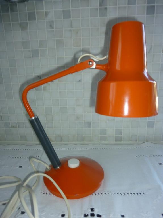 Retro, oransje LUXO lampe, L 11, fra Jac Jacobsen Epla