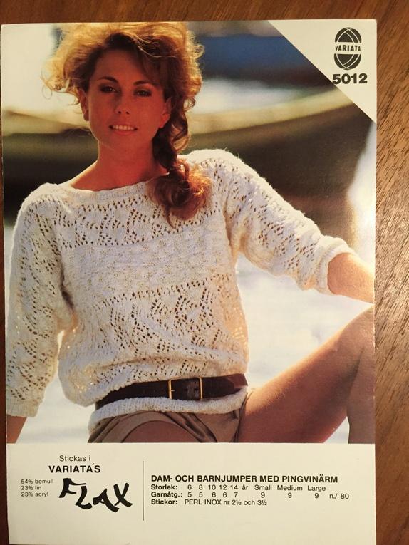 Retro Vintage Strikkeoppskrift Til Henne Epla