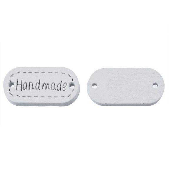 Knapper,handmade,10 stk - Norge - Hvite knapper ,handmadeStr 1.1x2.3cm10 stk i pk - Norge
