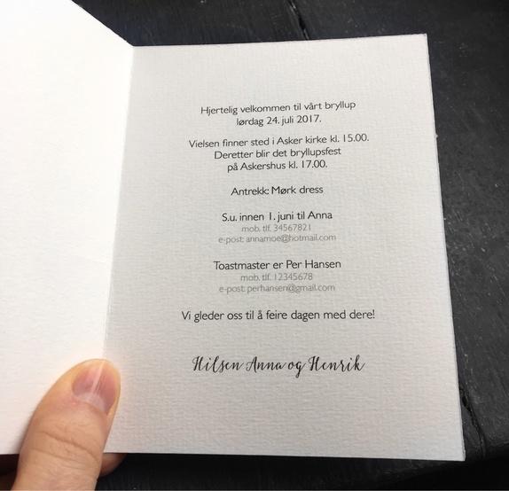 bryllupsinvitasjon