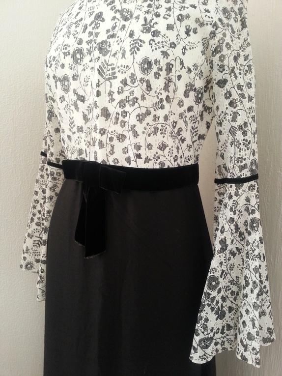 84eb959b Vidunderlig vintage! kjole m/nydelige detaljer, str. 38 - Epla