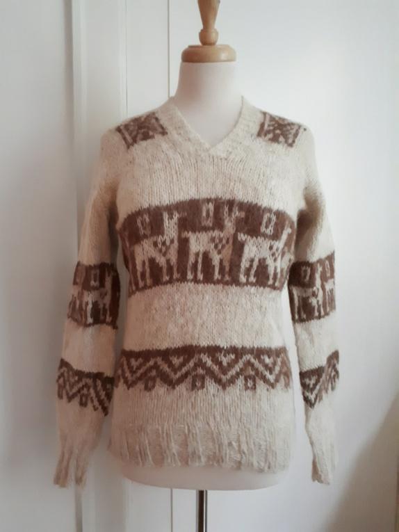 578013e7 Håndstrikket genser, str. S/M - Epla