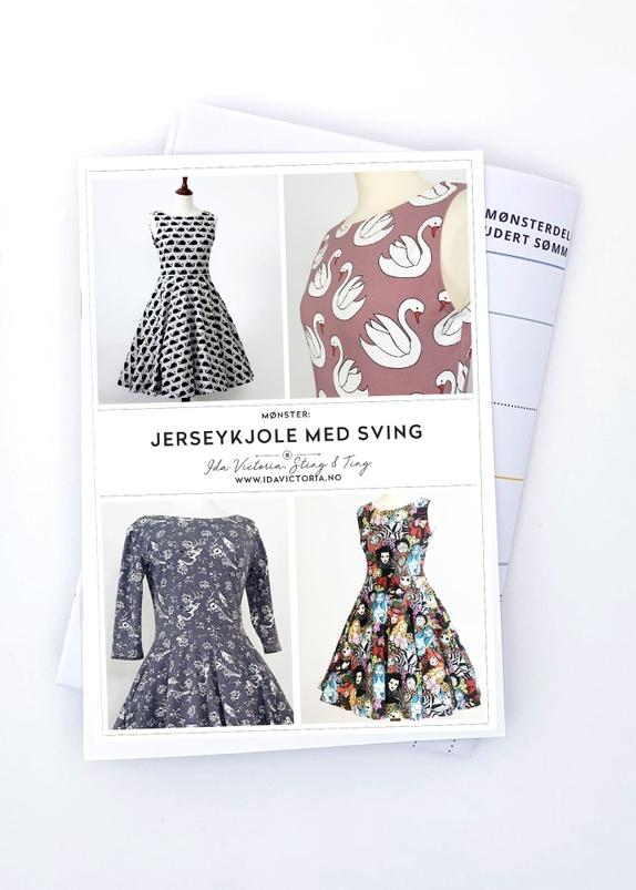 Jerseykjole med lommer
