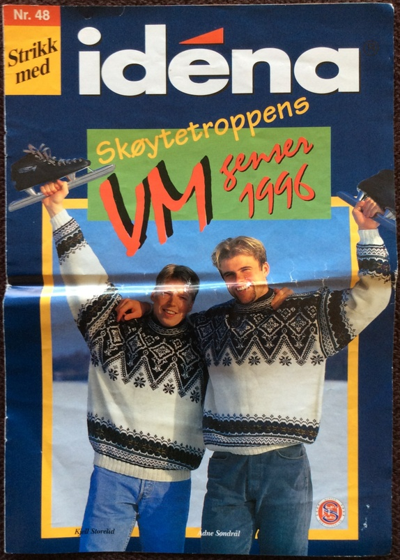 Strikkemønster på  VM gensere - Norge - skøytetroppen VM gensere 1996 - Norge
