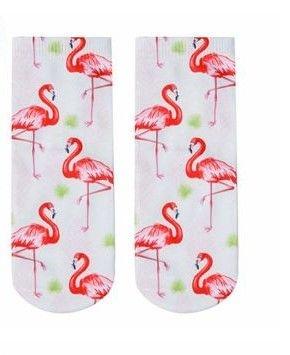 Ankelsokker med Flamingo - Norge - Ankel sokker / Ankelsokker med Flamingo Passer str: 34 - 40 Blir det betalt for mye i porto blir det tilbakebetalt til deg. - Norge