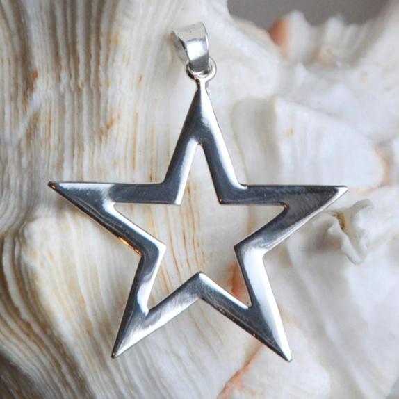 Anheng i sterling sølv- stjerne